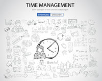 Time Management concept with Doodle design style Stock Photography