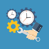 Time management concept. Flat design. Royalty Free Stock Images