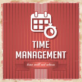 Time Management Concept in Flat Design. Stock Photo