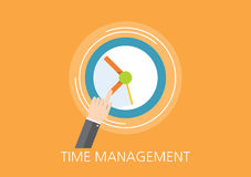 Time management concept flat icon Royalty Free Stock Photo