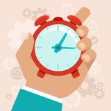 Time management concept in flat style Stock Photography