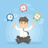 Time management concept. stock illustration