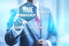 Time management concept. Pointing finger Royalty Free Stock Photo