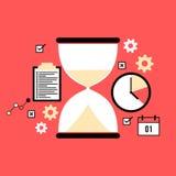 Time management concept slat style illustration Royalty Free Stock Images