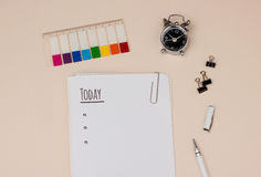 Time management: day planning with to do list Royalty Free Stock Photo