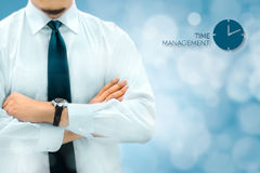 Time management and deadline concept. Businessman silhouette in Royalty Free Stock Photo