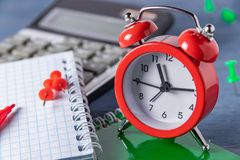 Time management Deadline. Time counting Graphic work. Deadlines for the work. Catch up to a certain time. Time management Deadline. Time counting Graphic work royalty free stock photos