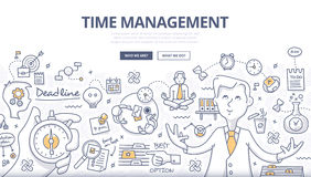Free Time Management Doodle Concept Stock Image - 60048601