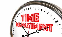 Time Management Efficient Clock Managing Projects 3d Illustratio. N Stock Photography