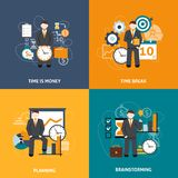 Time Management Flat Stock Photos