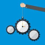 Time Management. Flat design style, Vector illustration. EPS 10 Royalty Free Stock Photos