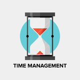 Time management flat illustration Stock Photo
