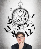Time management funny expression Royalty Free Stock Photo
