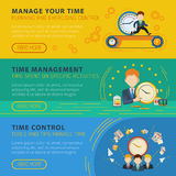Time Management Horiizontal Banners Set Royalty Free Stock Photo