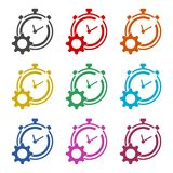 Time management icon for startup business, Time Management icon, color icons set. Simple vector icon Stock Images