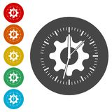 Time management icon for startup business, Time Management icon. Simple vector icons set Stock Images