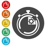 Time management icon for startup business, Time Management icon. Simple vector icons set Stock Image