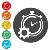 Time management icon for startup business, Time Management icon. Simple vector icons set Royalty Free Stock Photo