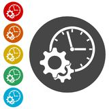 Time management icon for startup business, Time Management icon. Simple  icons set Stock Photo