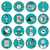 Time Management Icons Royalty Free Stock Photography