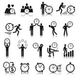 Time Management Icons Set Stock Photos