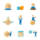 Time management icons set Stock Images