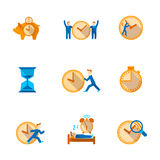 Time management icons set Royalty Free Stock Image