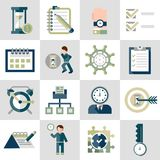 Time management icons set Royalty Free Stock Photo