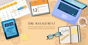 Time Management Illustration Stock Photos
