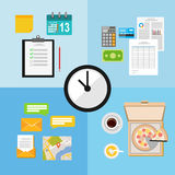 Time management illustration concept. Vector of time management illustration concept Royalty Free Stock Image
