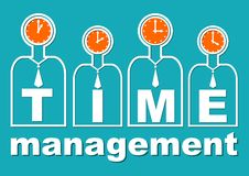 Time management, an important component of soft skills training. Presentation template for lecture or workshop for teams. Useful i Royalty Free Stock Photography