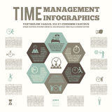 Time management infografic poster royalty free illustration