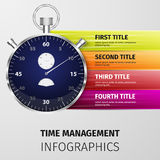 Time management infographics Stock Photo