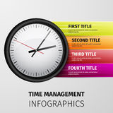 Time management infographics Royalty Free Stock Photos