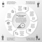 Time Management Infographics Royalty Free Stock Image