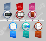 Time Management Infographics Stock Photos