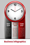 Time management infographics Royalty Free Stock Photo