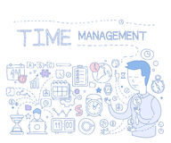 Time Management Infographics. Vector Illustration Stock Photos