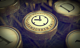 Time Management Key on Grunge Typewriter. Stock Image
