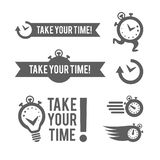 Time management logo template. Concept icon isolated on white background. Vector symbol. royalty free illustration