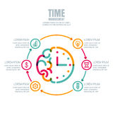 Time management, planning business concept. Vector infographics design template. Royalty Free Stock Photography