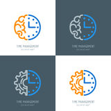Time management and planning business concept. Vector logo or icons set. Royalty Free Stock Images
