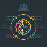 Time management and planning, business  infographics design template. Royalty Free Stock Photo
