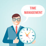 Time management poster Stock Images