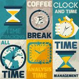 Time management poster Royalty Free Stock Image