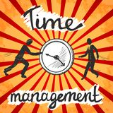Time management poster sketch Royalty Free Stock Photo