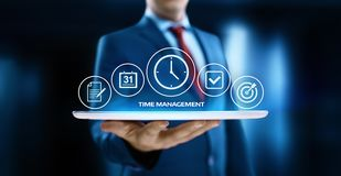 Time management project efficiency strategy goals business technology internet concept.  royalty free stock photos