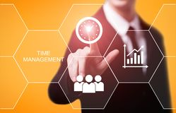 Time management project efficiency strategy goals business technology internet concept.  stock photography