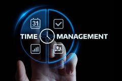 Time management project efficiency strategy goals business technology internet concept.  royalty free stock photo