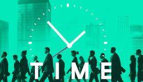 Time management punctual duration schedule concept vector illustration